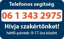 Telefonos segítség: 06 1 343 2975